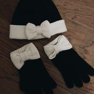 Kate Spade Glove & Beanie Set